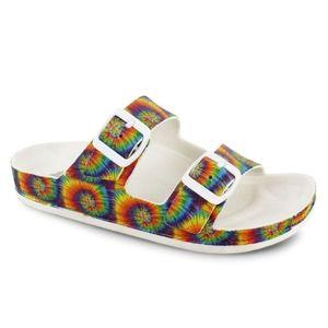 Tie Dye Buckle Sandals
